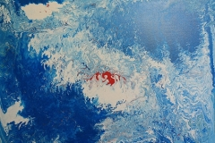 Blood on the Wave - 100 x 80cm $2000.00