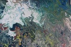 Godwanaland - 80 x1 00 cm Acrylic and Enamel on Canvas