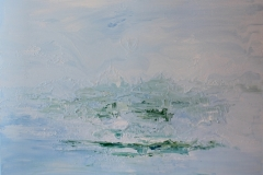 Aquatic - 100 x 80 cm Acrylic and Enamel on Canvas  $750.00