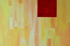 Red Square - 146 x 114 cm Acrylic and Enamel on Canvas $2500.00