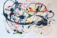 Scatter Me - 246 x 114 cm Acrylic and Enamel on Canvas $4000.00