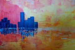 Sunset City - 80 x 100cm $450