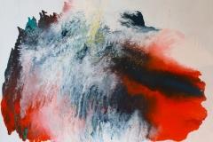 Dawn - 146 x 114 cm Acrylic and Enamel on Canvas - $3000.00