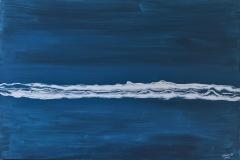 Surf - 100 x 80 cm Acrylic and Enamel on Canvas  $750.00