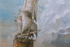 Tallship Undersail - Oil on Canvas NFS