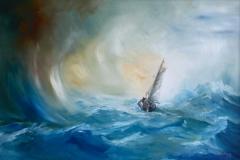 Typhoon Arriving - Oil on Canvas NFS